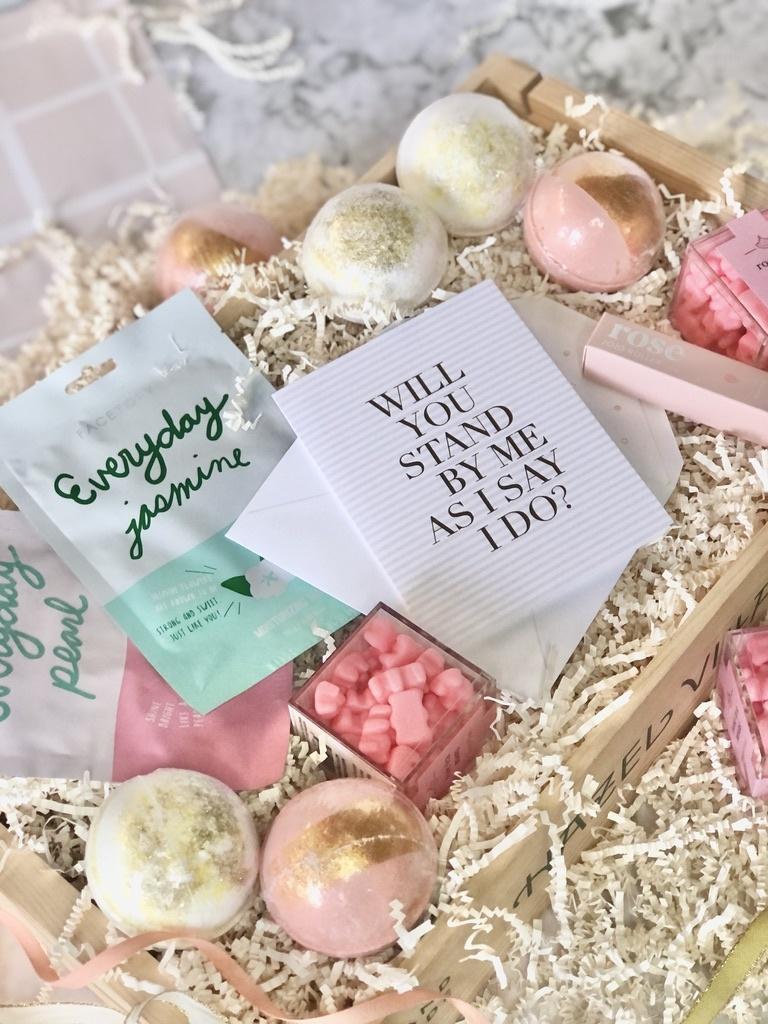 Gus and Ruby Letterpress - GR Bridesmaid Custom Gift Box