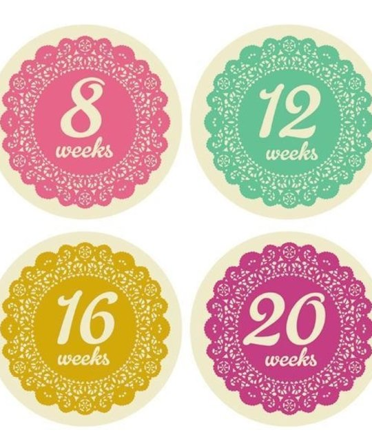 Lucy Darling - LUD Prim and Proper Pregnancy Belly Stickers