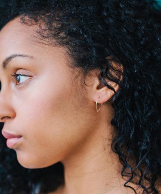 Favor Jewelry - FJ Favor Sterling Silver Mini Slip Hoop Earrings