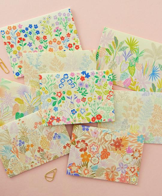 Elvira Van Vredenburgh Designs - EVV Botanics Notes, Set of 8