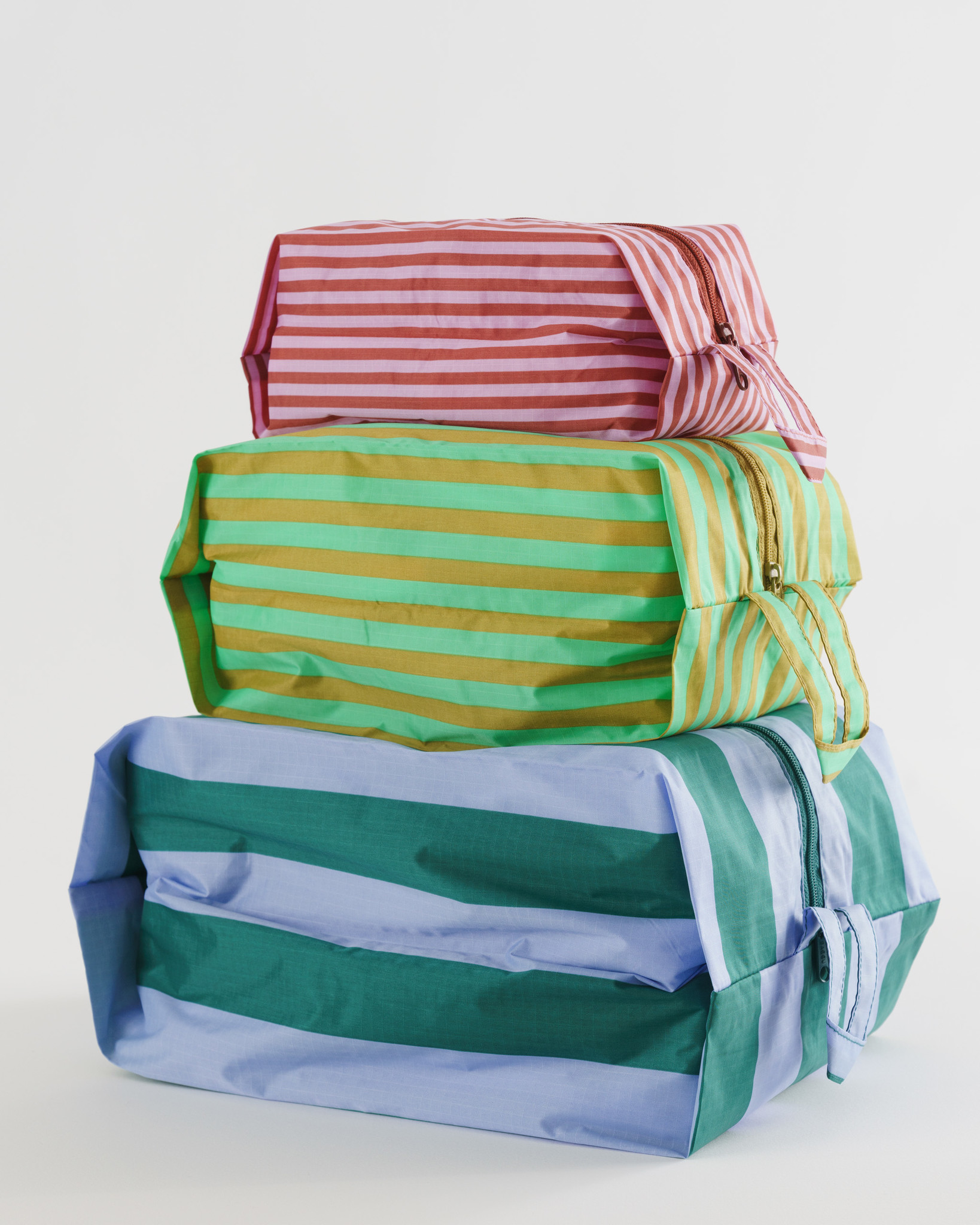 Baggu - BA Baggu Afternoon Stripes 3D Zip Pouch Set