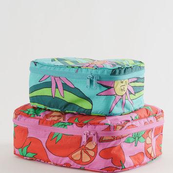 Baggu - BA Baggu Storage Cube, Set of 2, Summer Veggies