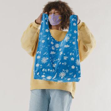 Baggu - BA Baggu Blue Floral Sun Print Standard Baggu Reusable Bag