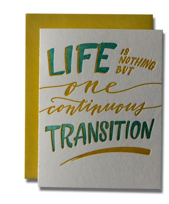 Ladyfingers Letterpress - LF Life Transition Card