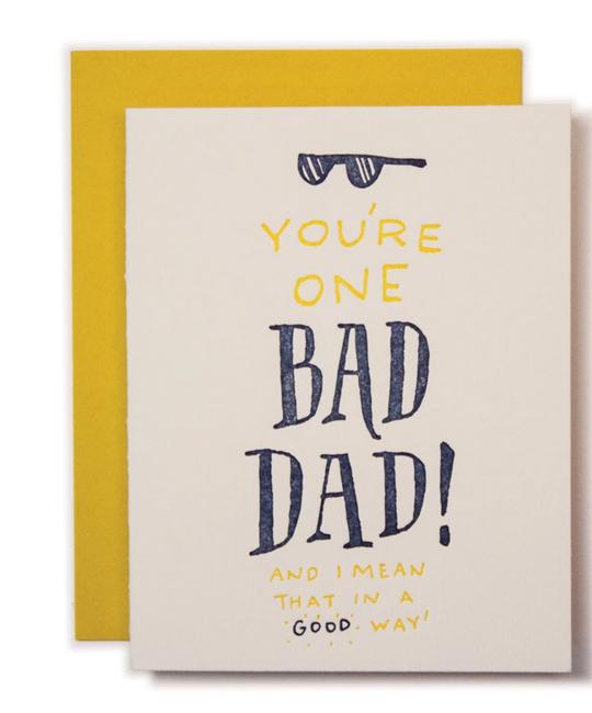Ladyfingers Letterpress - LF Bad Dad Card Card
