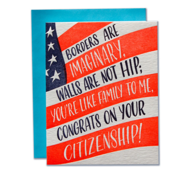 Ladyfingers Letterpress - LF Citizenship Congratulations Card
