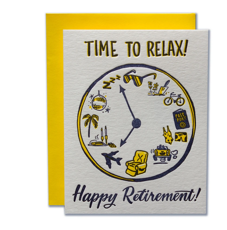 Ladyfingers Letterpress - LF Time to Relax Retirement Card