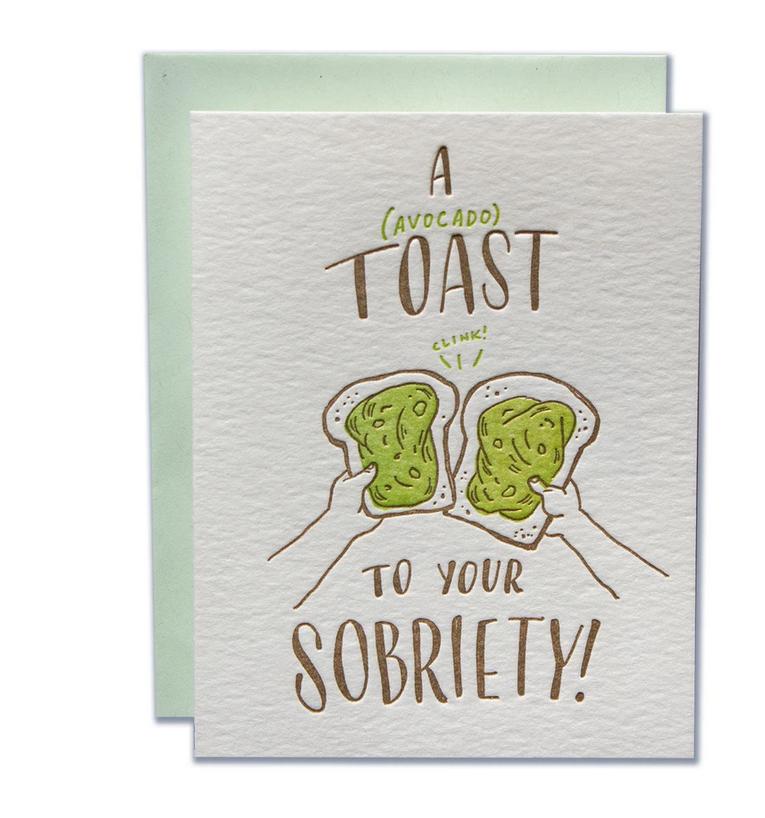 Ladyfingers Letterpress - LF Sobriety Congratulations Card