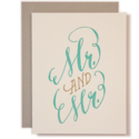Ladyfingers Letterpress - LF Mr and Mr Wedding Card