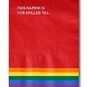 Sapling Press - SAP Spilled Tea Pride Napkins