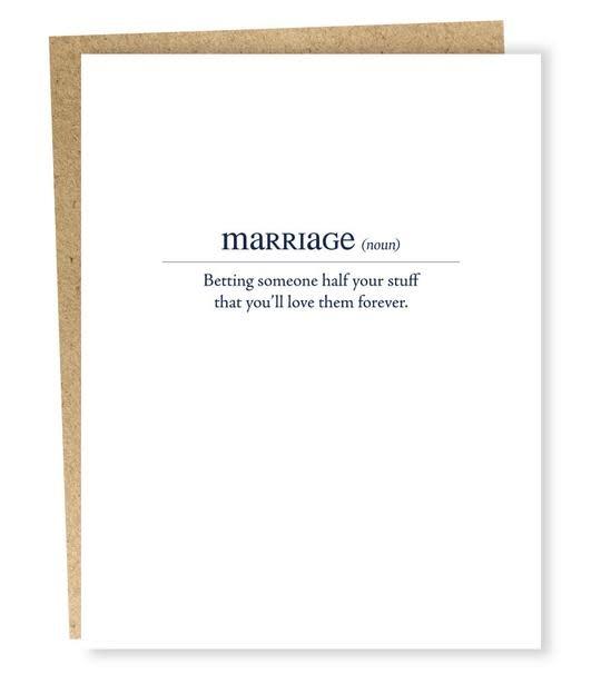 Sapling Press - SAP Marriage Card (modern definitions)