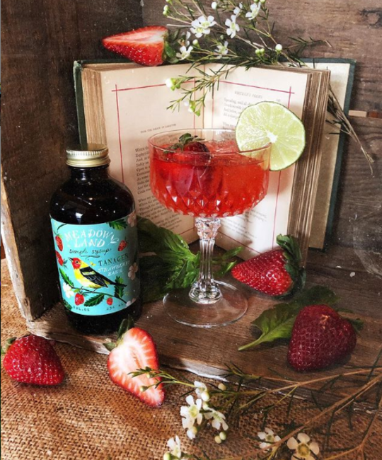 Meadowland - MEA Tanager Simple Syrup (Strawberry, Basil)