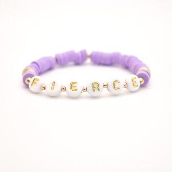 Hip Hope Hoorah FIERCE Kid's Bracelet in lilac