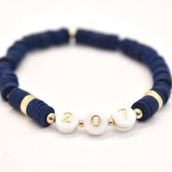 Hip Hope Hoorah - HH 207 Maine Bracelet in navy