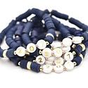 Hip Hope Hoorah 207 Maine Bracelet in navy