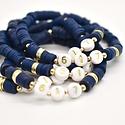 Hip Hope Hoorah - HHH 617 Boston bracelet in navy