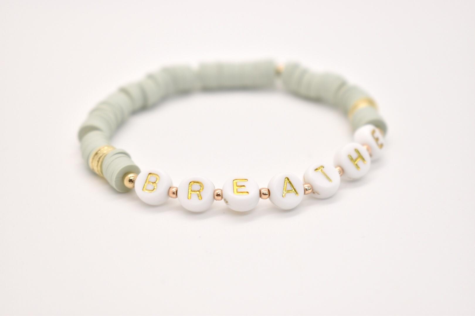 Hip Hope Hoorah - HH BREATHE Bracelet in sage green