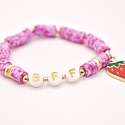 Hip Hope Hoorah - HH BFF Kid's Bracelet with strawberry charm in speckled pink