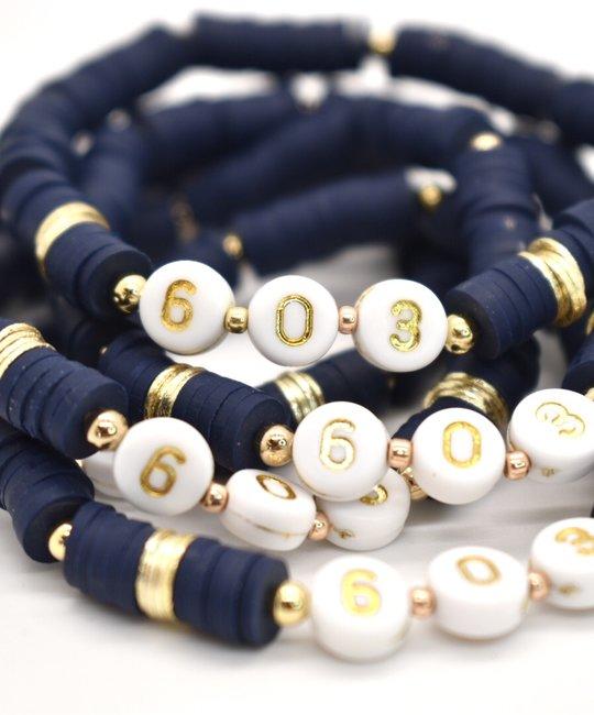 Hip Hope Hoorah 603 New Hampshire Bracelet in Navy