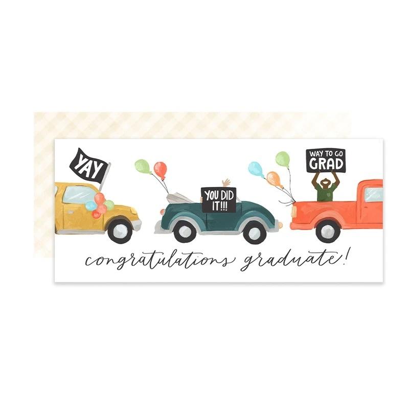 One Canoe Two Letterpress - OC Graduation Parade Card