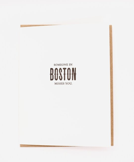 Sapling Press - SAP City Limits: Someone in Boston Misses You Card
