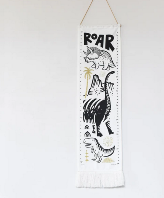 Wee Gallery Dino Canvas Growth Chart
