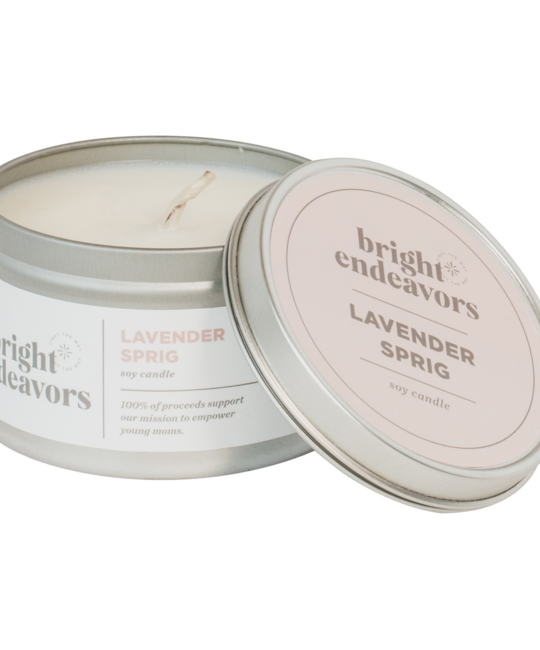 Bright Endeavors Lavender Sprig 8oz Tin Candle