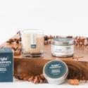 Bright Endeavors Cedar & Tobacco Glass Candle