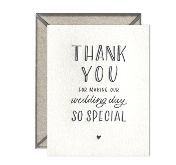 Ink Meets Paper - IMP Wedding Day Thank You Card