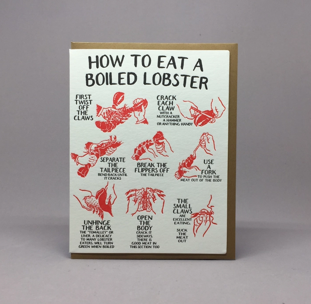 Big Wheel Press - BWP How To Eat Lobster Card