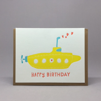 Big Wheel Press - BWP Birthday Submarine Card