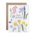 Hartland Brooklyn - HAR Happy Birthday Spring Flowers Card