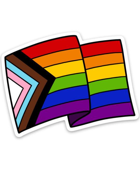 Gus and Ruby Letterpress - GR GR ST - Pride Flag Die-Cut Sticker