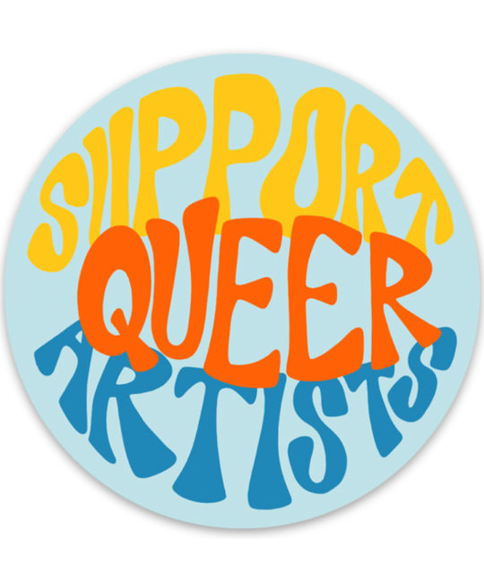 Gus and Ruby Letterpress - GR GR ST - Support Queer Artists Round Sticker