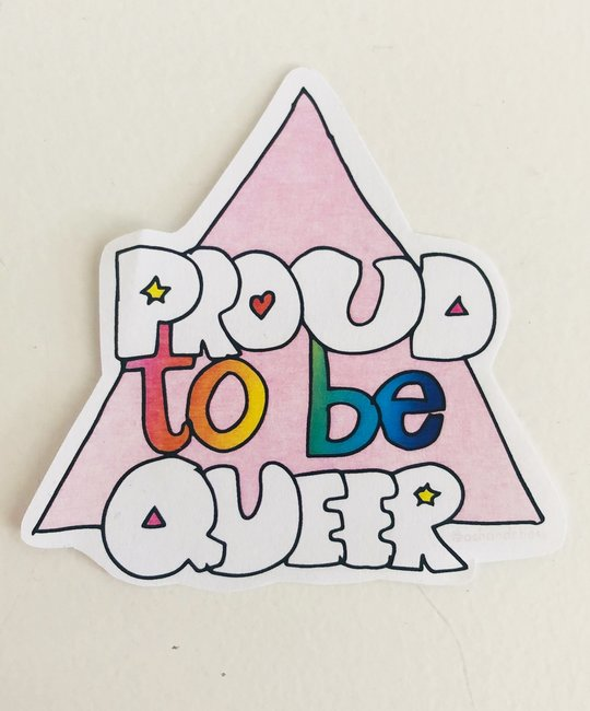 Ash + Chess - AAC Proud to be Queer Sticker