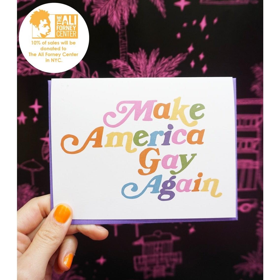 Ash + Chess - AAC Make America Gay Again Card