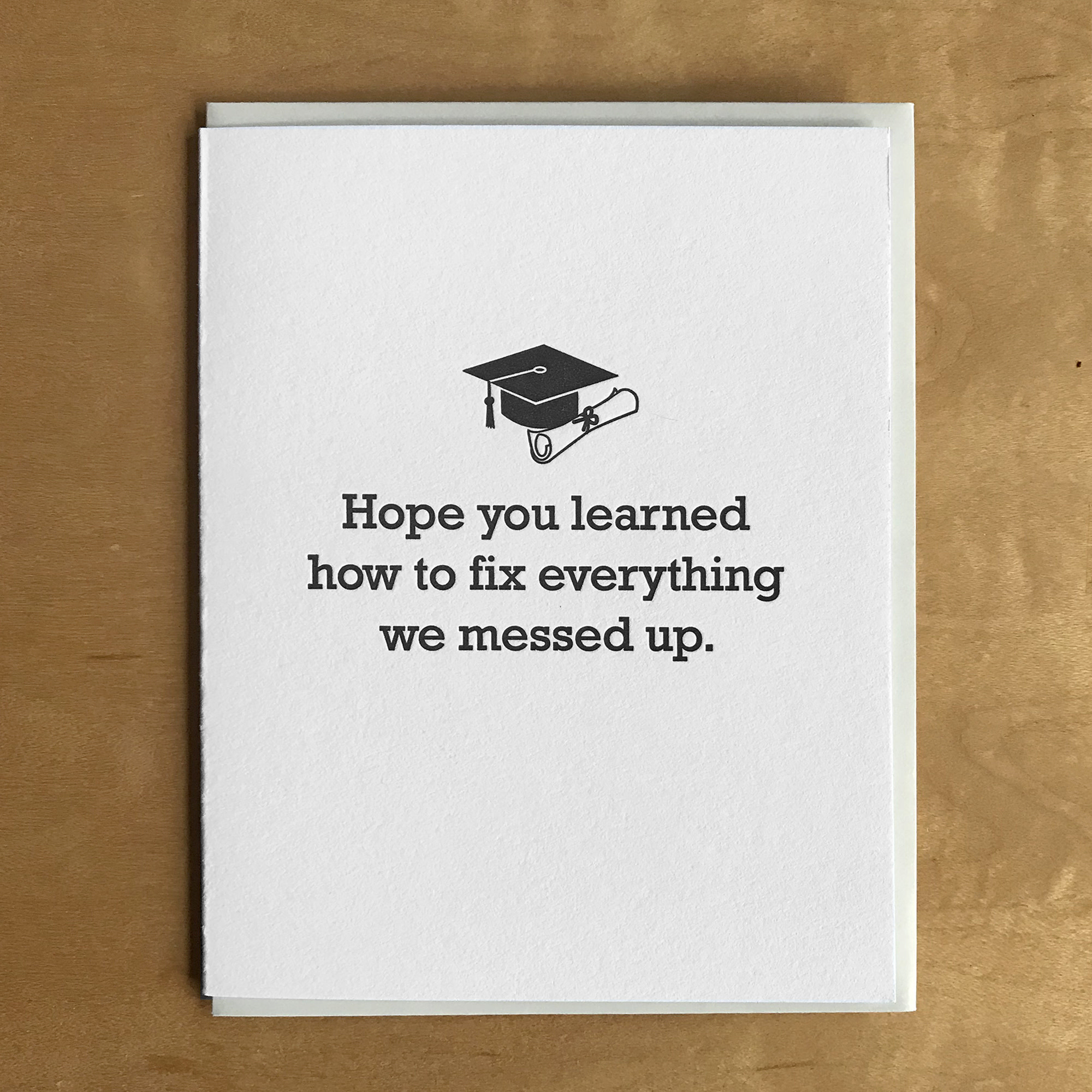 McBittersons - MCB Fix What We Messed Up Graduation Card