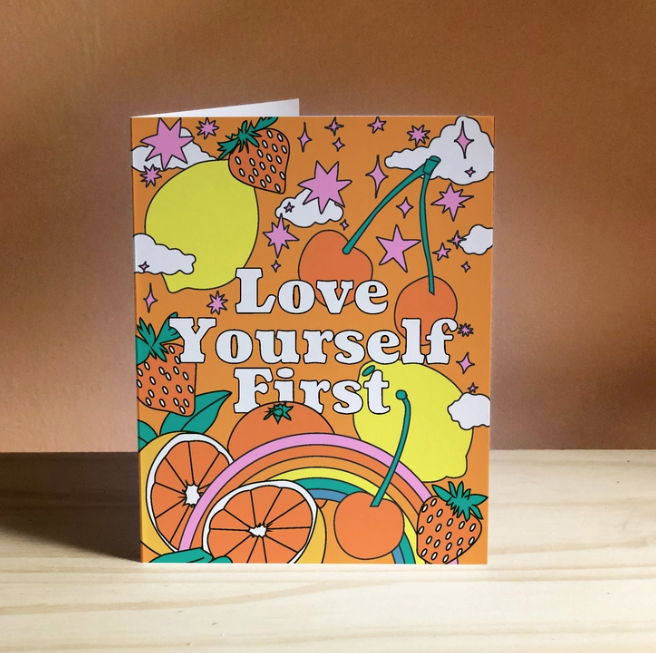 Ash + Chess - AAC Love Yourself First Card