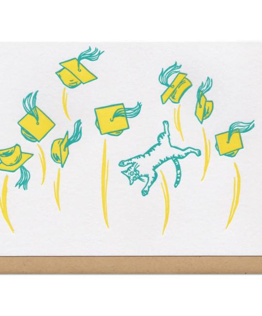 Frog & Toad Press - FT Graduation Caps and Cat Card
