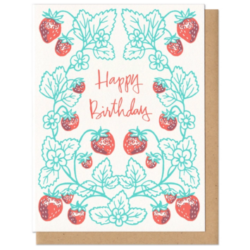 Frog & Toad Press Birthday Strawberries Card