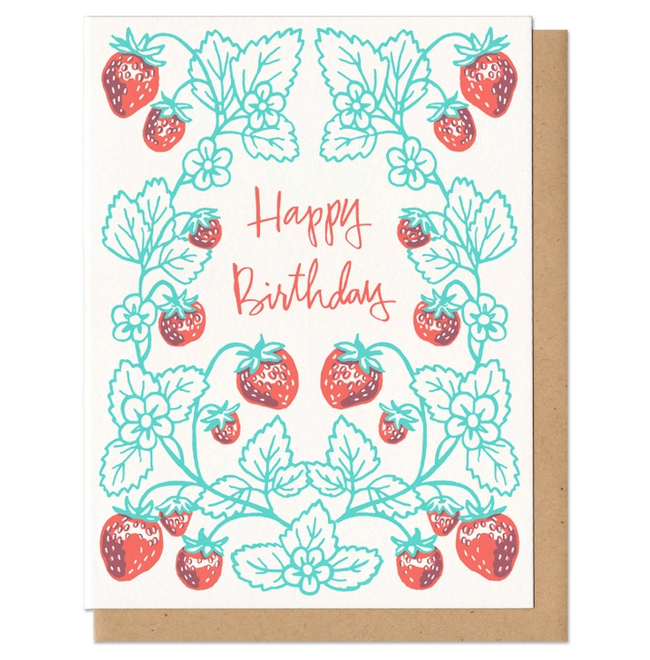 Frog & Toad Press - FT Birthday Strawberries Card