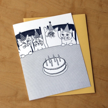 McBittersons - MCB Cat Party Birthday Card