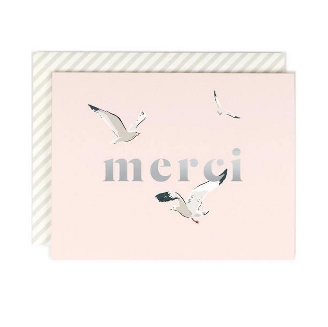Amy Heitman Illustration - AHI Merci Seagull Card