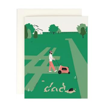Amy Heitman Illustration - AHI Dad Mowing #1 Card