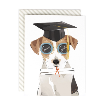 Amy Heitman Illustration - AHI Bright Future Grad Dog Card