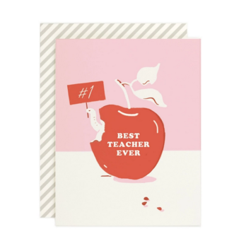 Amy Heitman Illustration - AHI Best Teacher Ever Card
