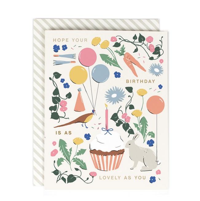 Amy Heitman Illustration - AHI Lovely as You Birthday Card