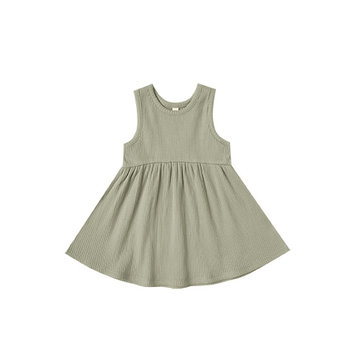 Quincy Mae - QM QM BA - Sage Ribbed Tank Dress