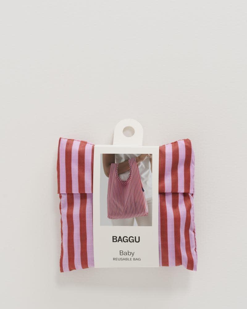 Baggu - BA BA BAG -  Cerise Stripe Baby Baggu Reusable Bag