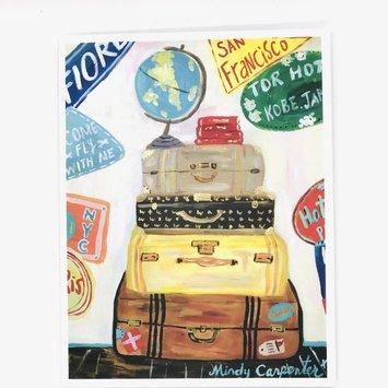 Carpe Diem - CD Bon Voyage Vintage Luggage Card